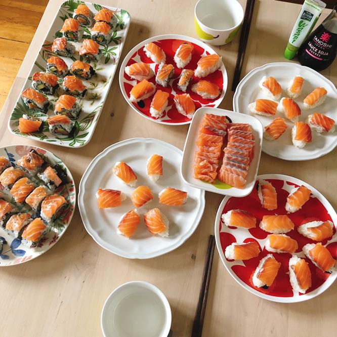 sushi、maki、sashimi😜