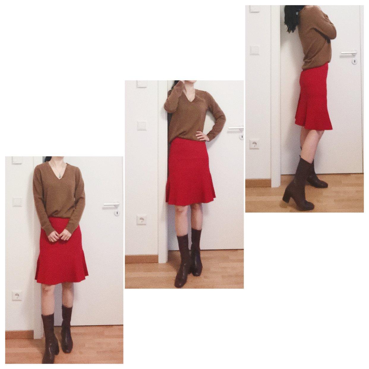 Hallhuber红裙上身