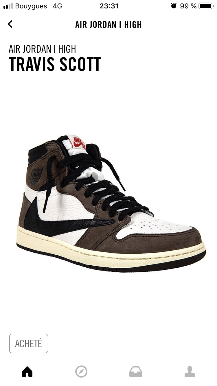 Nike aj1 Travis Scott 倒钩