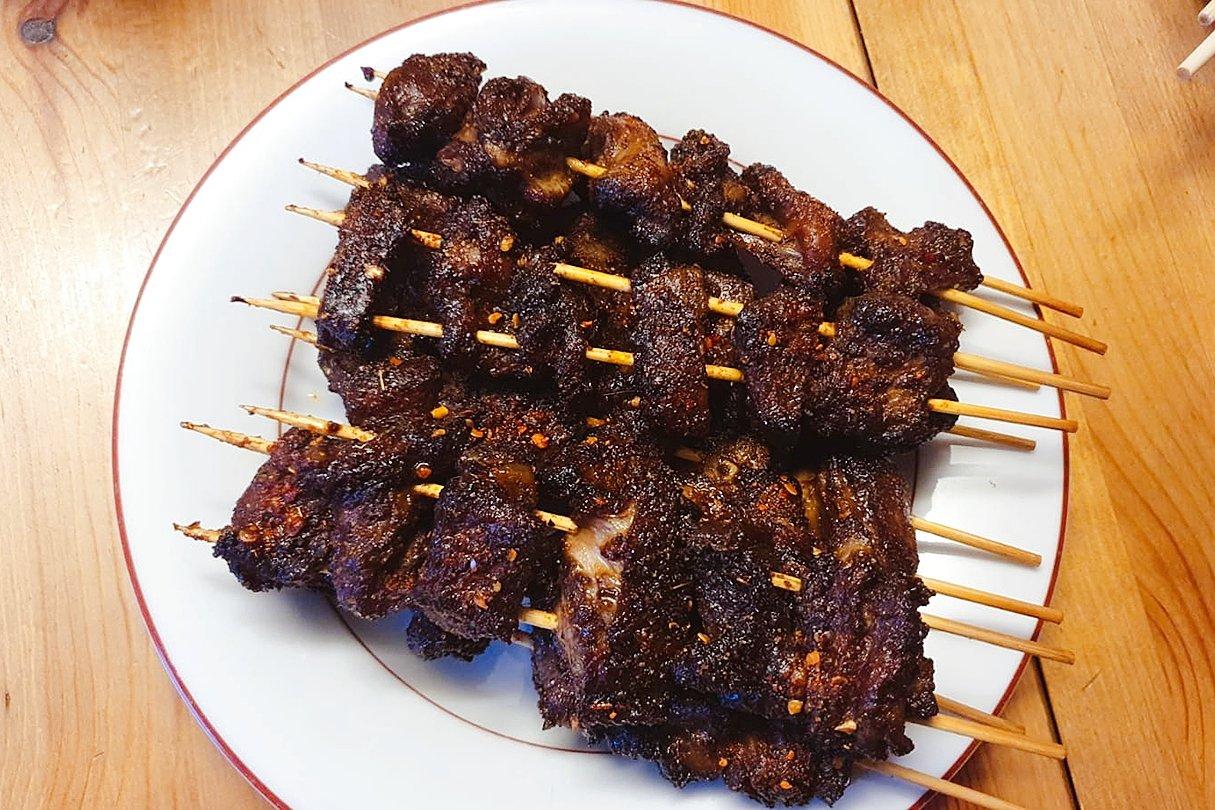 【吃货手作】不用碳烧的孜然羊肉串
