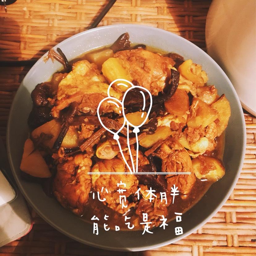朴素的小鸡炖蘑菇