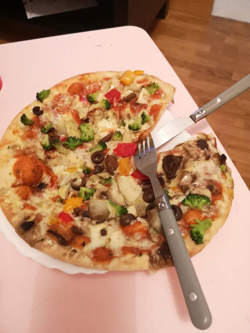 素食爱好者会爱的速食pizza