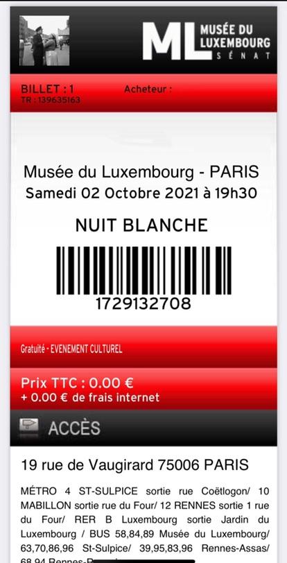 今晚不眠夜 Musée du Luxembourg博物馆