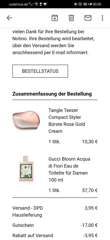 44欧Gucci香水+7.5欧tt梳
