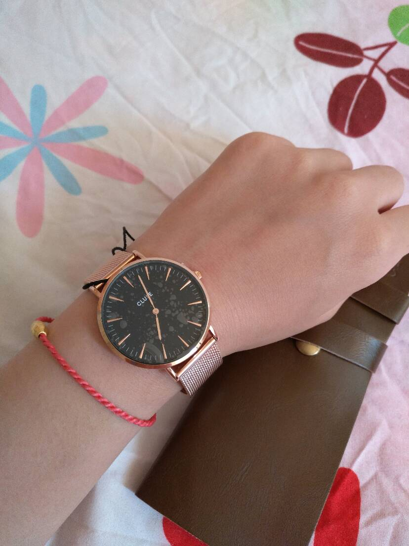 晒晒法亚上买的cluse手表