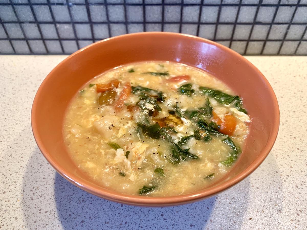 阴雨天的早餐要吃疙瘩汤