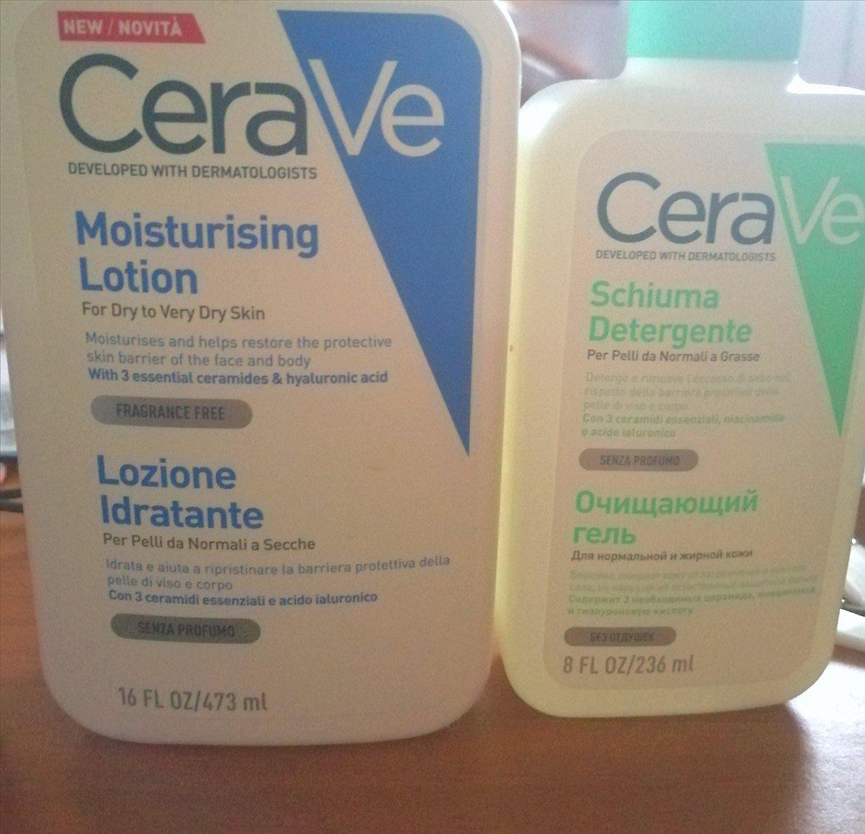 分享   Cerave的c乳和泡沫洗面奶
