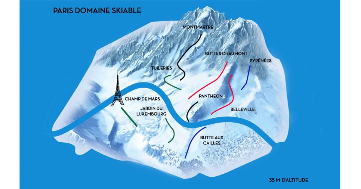 巴黎滑雪地图