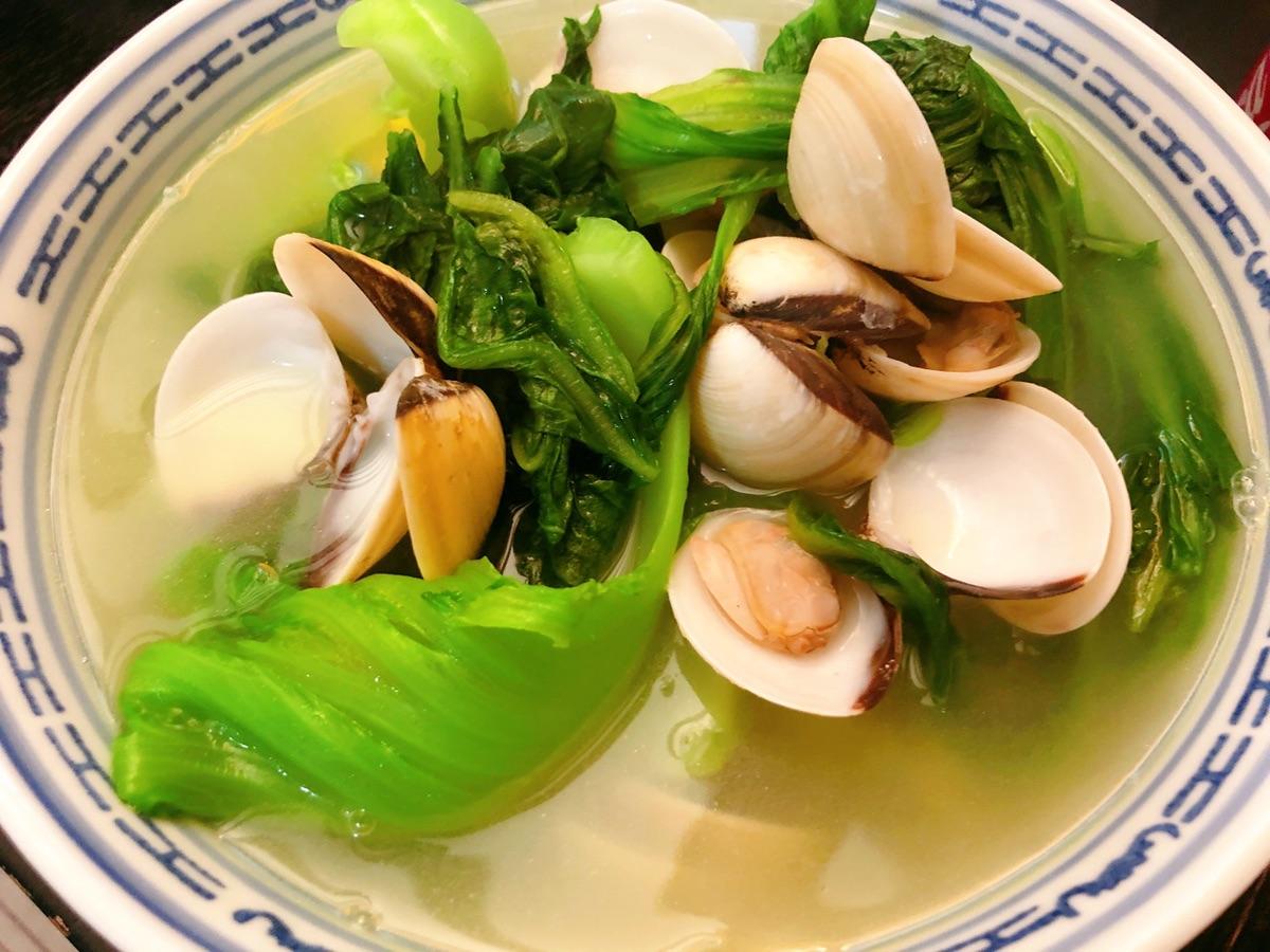 车螺芥菜汤,清热降火的广式家常菜~