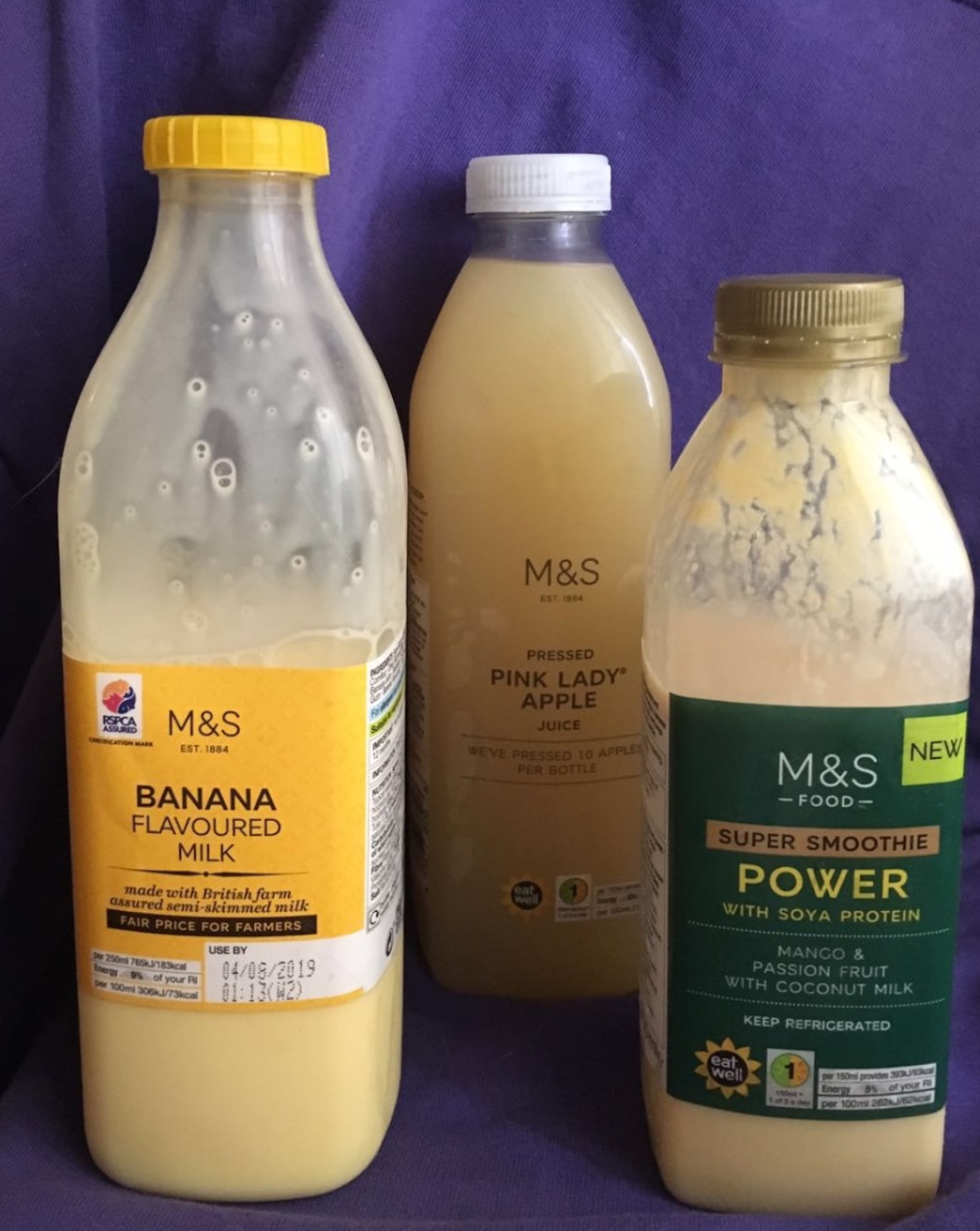 M&S黄色饮料爱好者🤣香蕉牛奶 芒果百香果smoothie