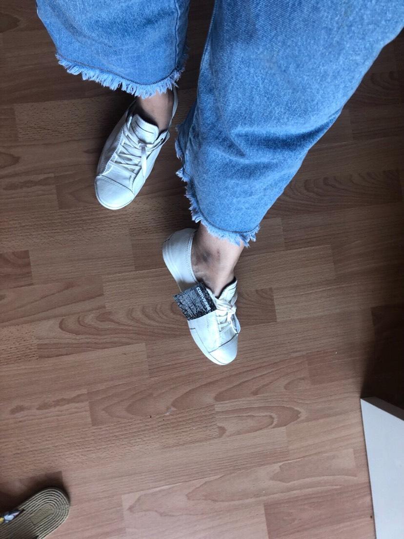 vente privee买到的converse小白鞋