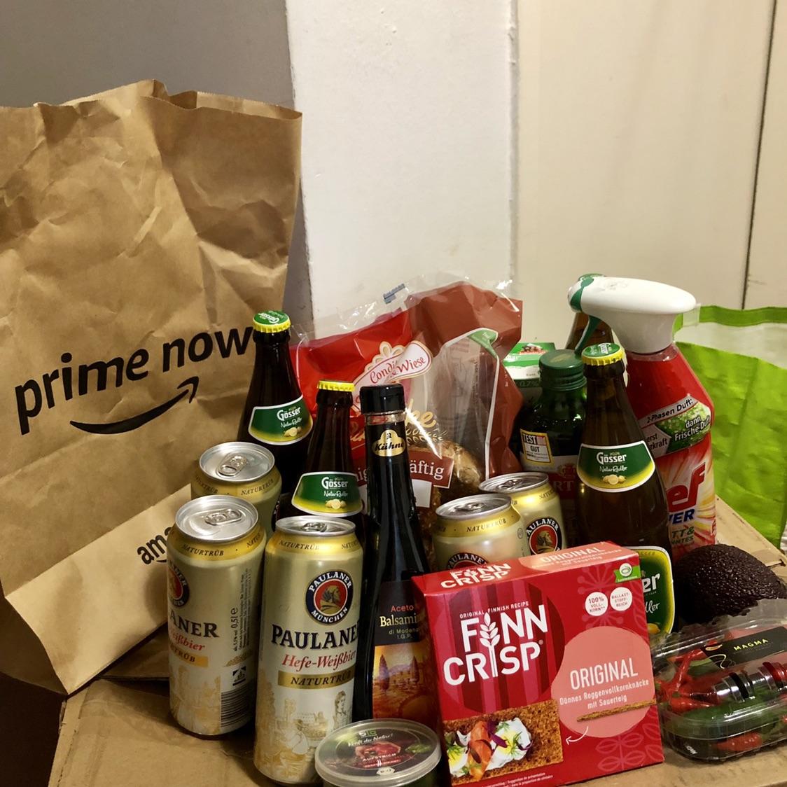 亚马逊Prime now服务体验分享~终于不用去超市啦