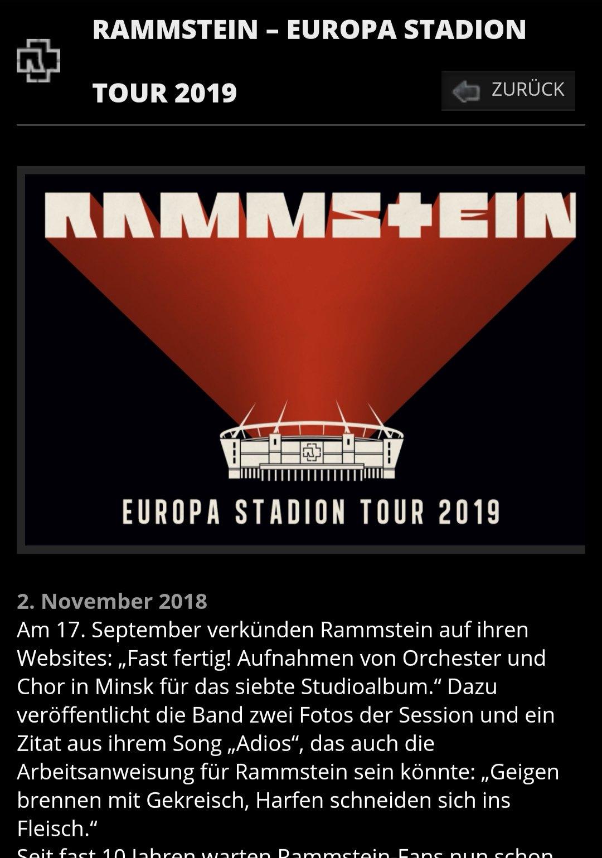 RAMMSTEIN 德国战车巡演票子get!!!
