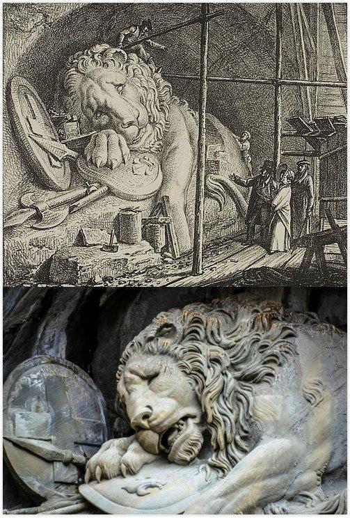 """法国与瑞士的恩怨情仇—""""垂死狮子像""""的悲歌。"""