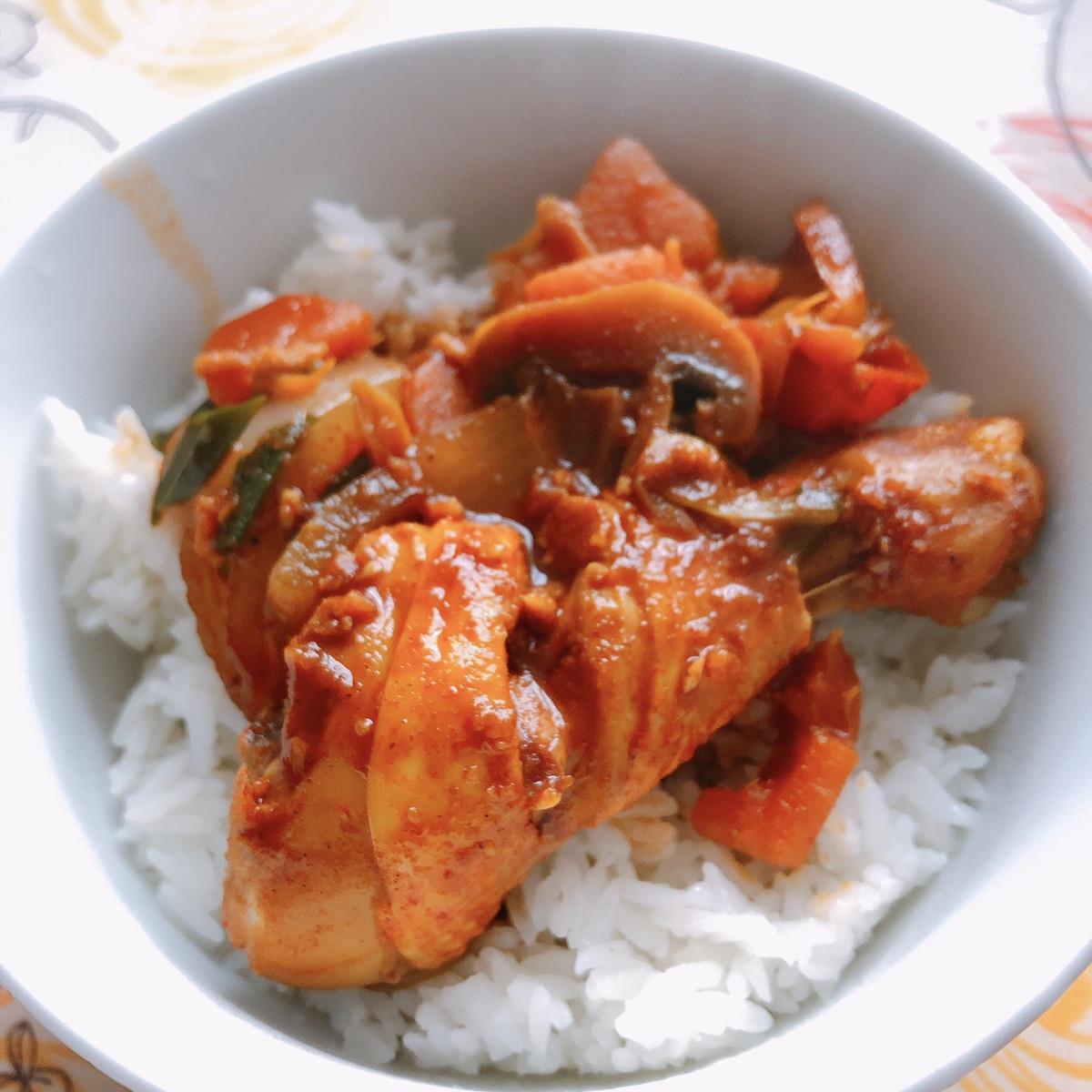 吃好打卡day7 韩式辣酱炖鸡腿