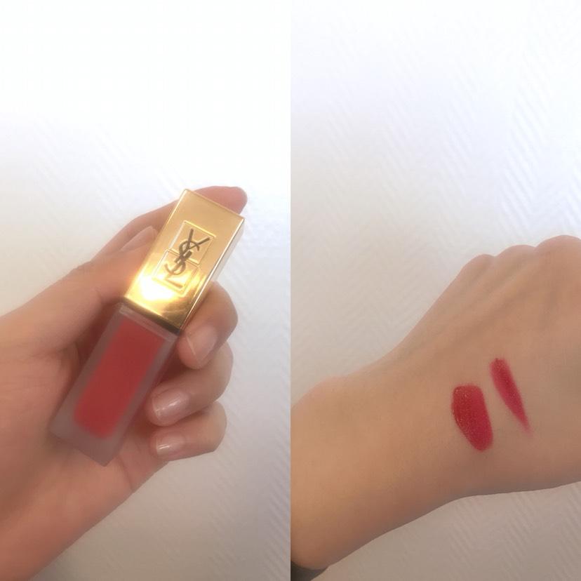 圣罗兰哑光唇釉礼盒+10号上嘴试色!
