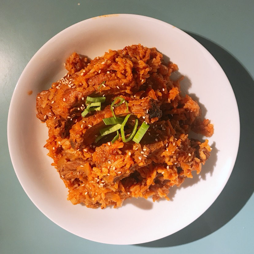 排骨的100种做法之韩式辣排骨拌饭