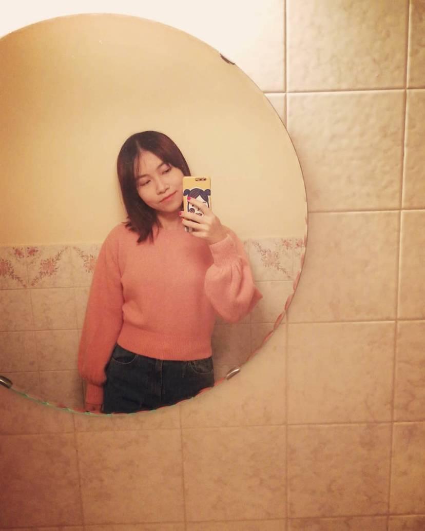 &otherstories粉色毛衣