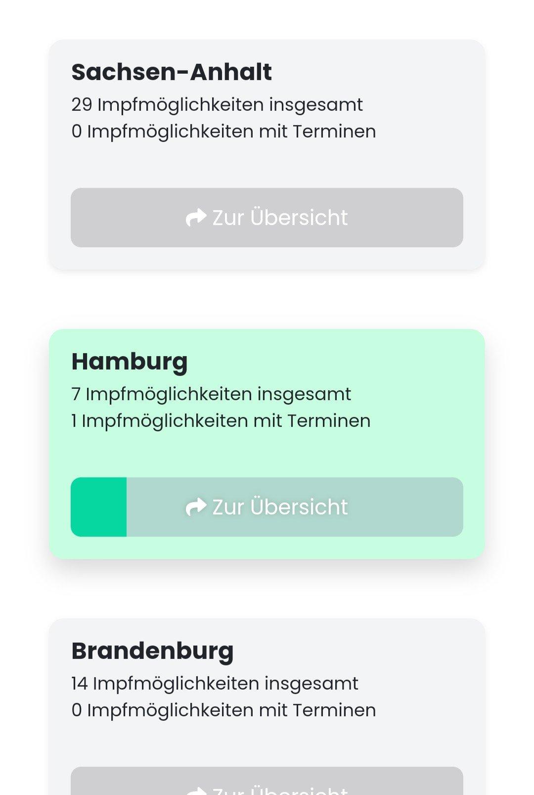 给德国小伙伴推荐两个抢疫苗的网站