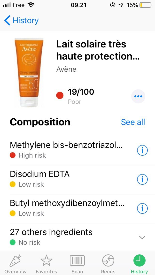 推荐一个查食品和护肤品成分的app