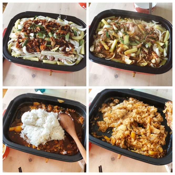 今日晚饭|豆芽烤肉|椰子汁🥥