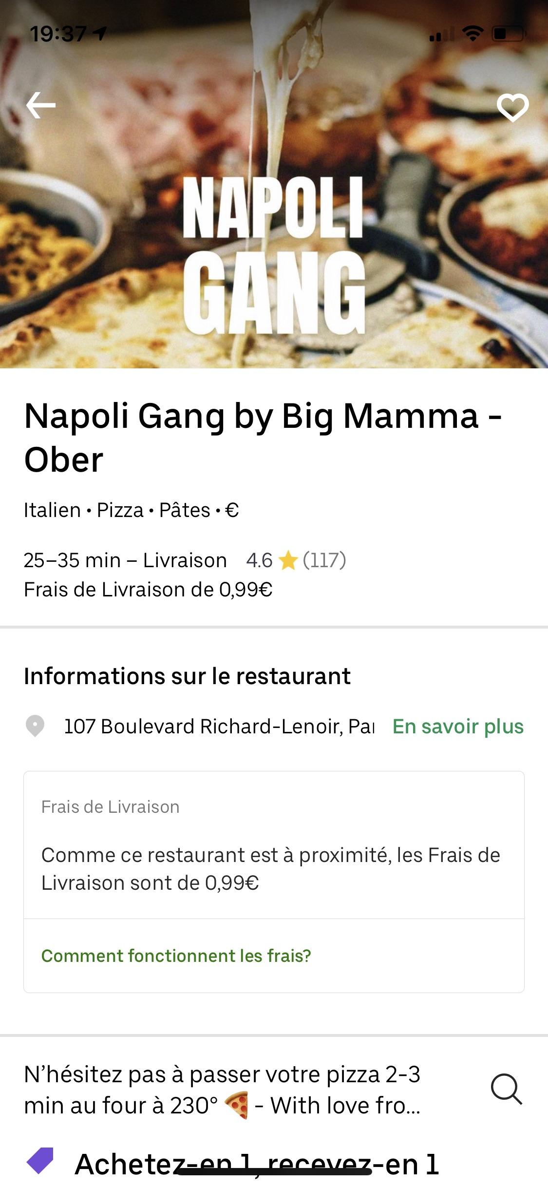 宅家第七天!Big mamma pizza买一送一