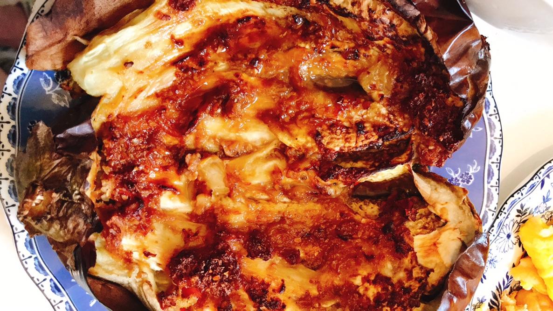 简单又美味:蒜蓉烤茄子+凉拌+煎鸡蛋🍳