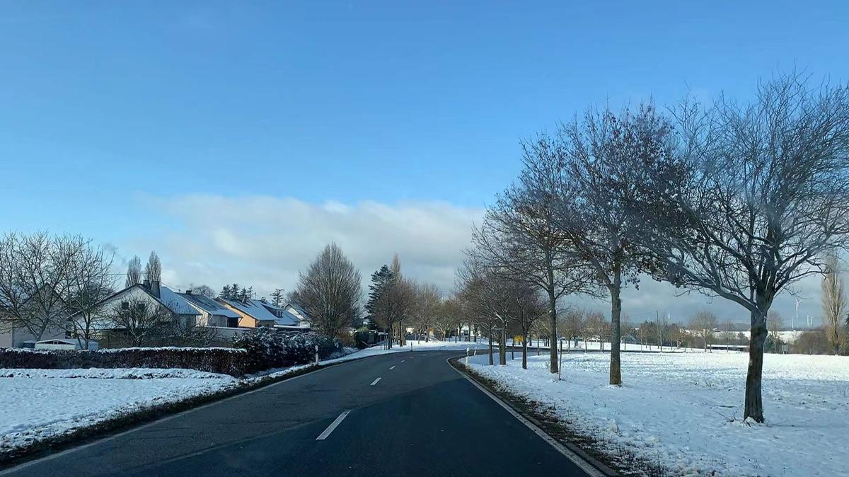绝美的德国公路雪景❄️