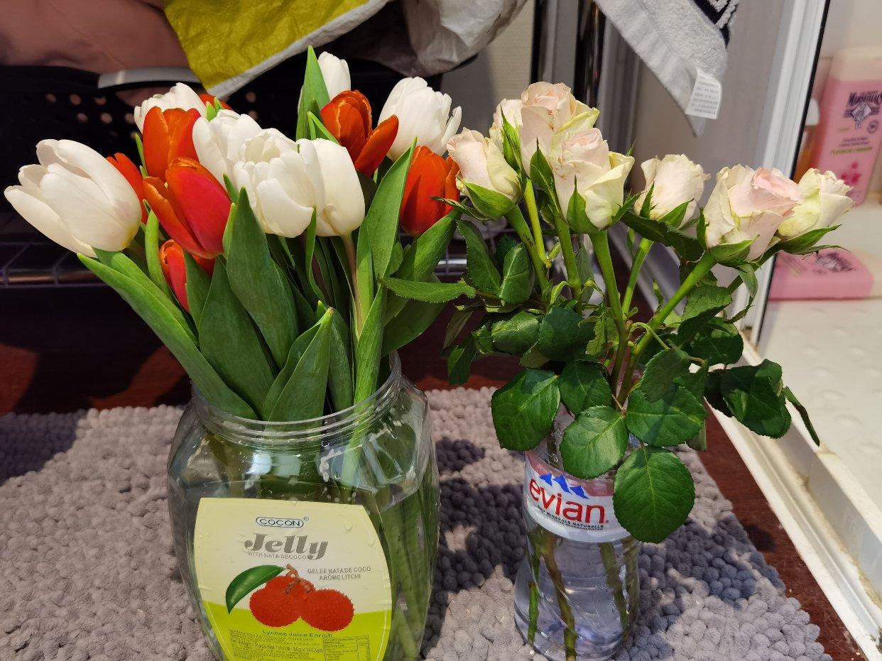 饮料瓶里的花花🌷🌷
