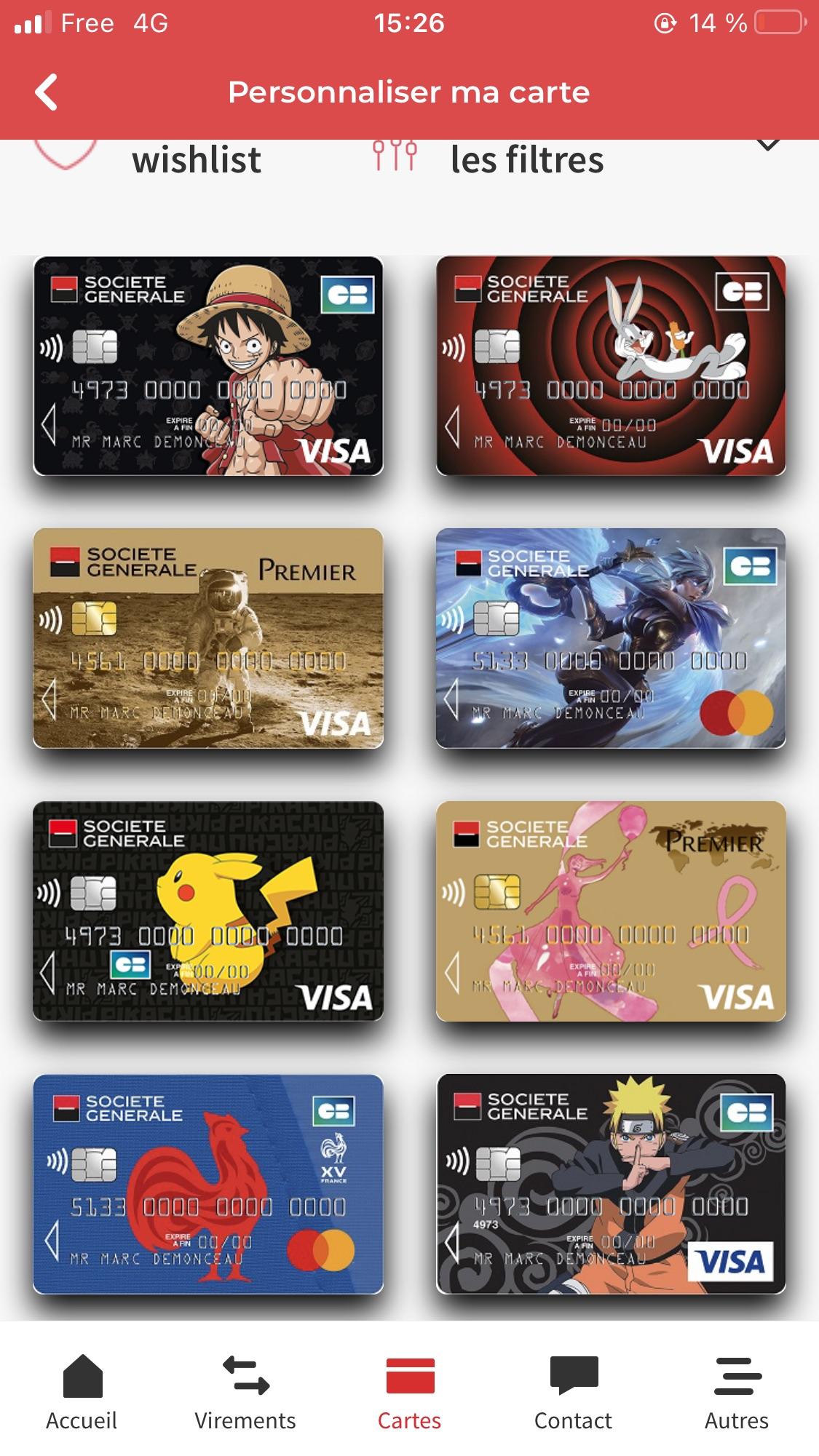 SG Carte collectiton