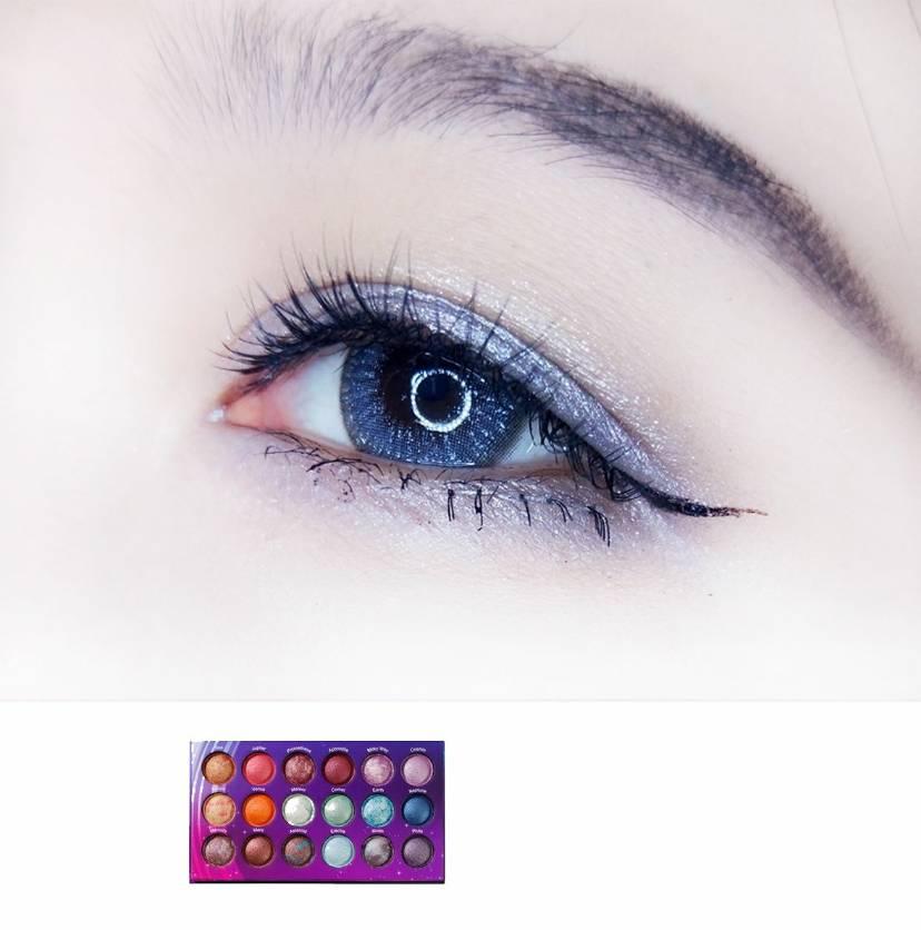 【如何画好蓝色眼妆】蓝星幽光眼妆教程 Colourpop s
