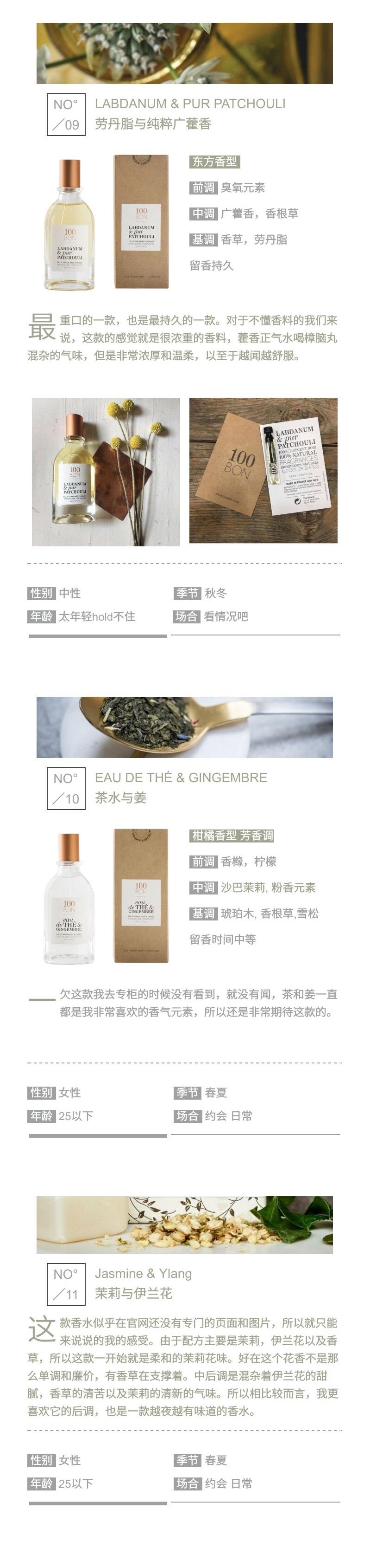 🍃法国平价小资香水100 BON 11款香水测评(下)🍃