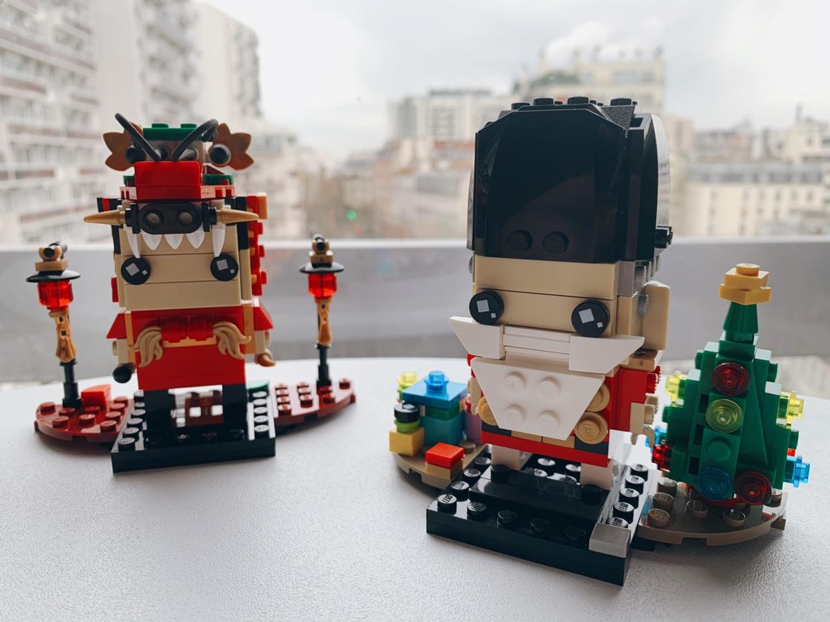 最近拼的lego——小黃人、中國龍人、胡桃夾子聖誕老人