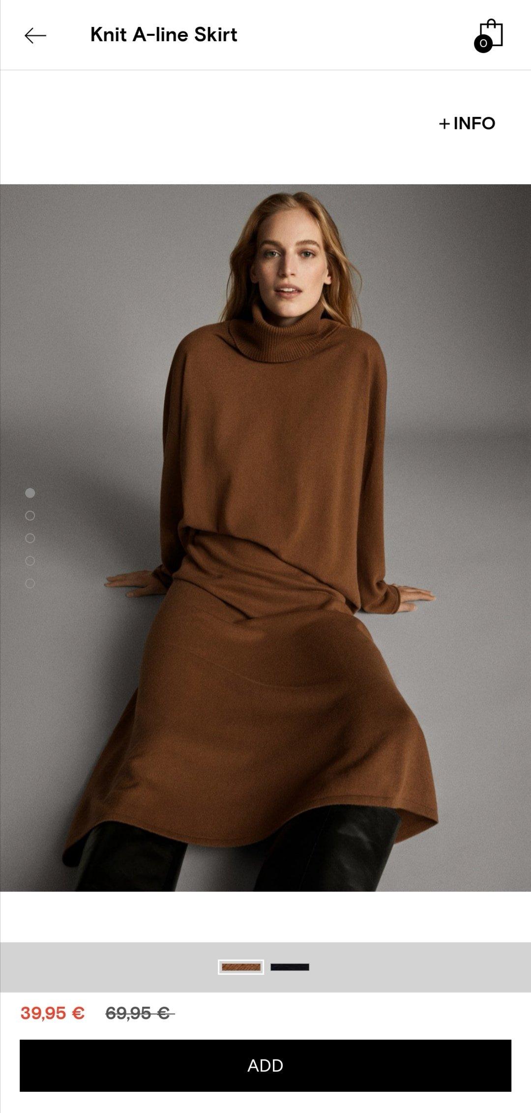 Massimo Dutti针织长裙上身