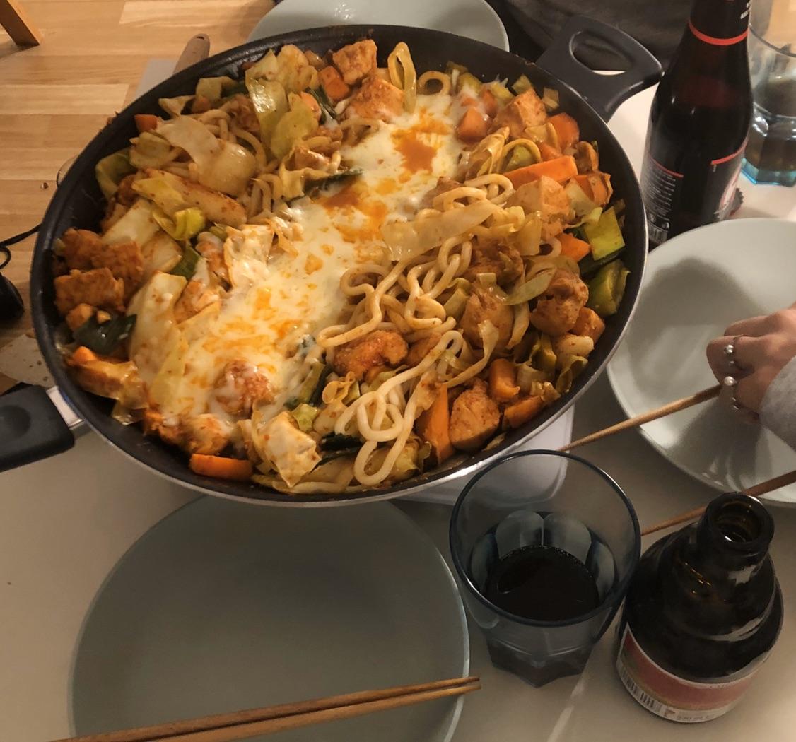 开学以来和男朋友一起做的一些韩餐