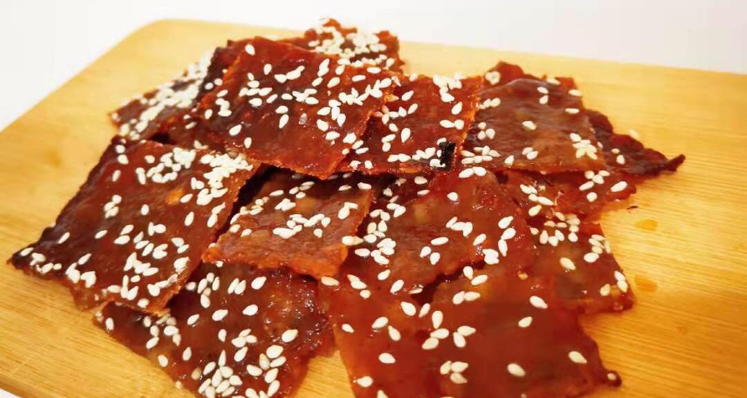 最爱的鲜甜咸香,又艮啾啾的磨牙下剧小零食——蜜汁猪肉脯