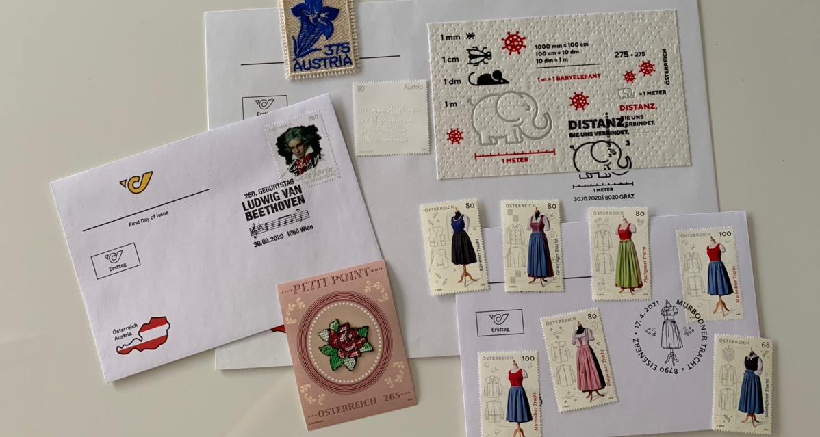 我的奥地利🇦🇹邮票子到啦!敲锣打鼓!🥁
